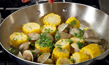 Clams with Corn