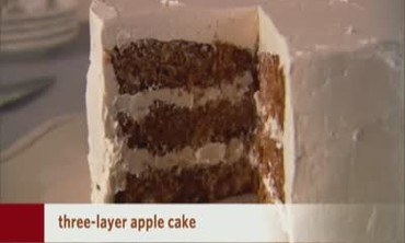 Three Layer Apple Cake
