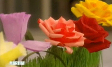 Video Crepe Paper Flowers Martha Stewart