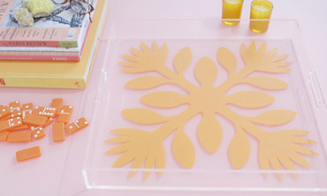 DIY Hawaiian Print Tray