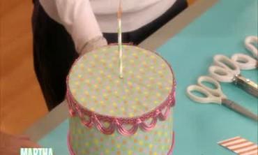 Styrofoam Birthday Cake