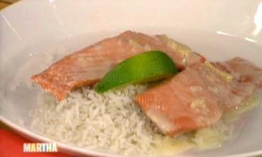 Sake-Steamed Salmon