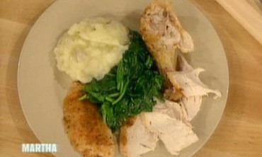 Roast Chicken with Potatoes and Spinach, 2