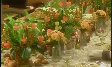 Cornucopia Table Setting