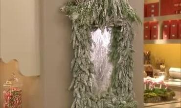 Festive Pine Tree Mirror