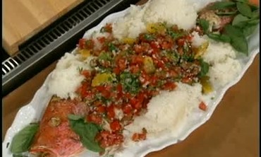 Herb Crusted Red Snapper