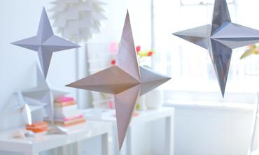 Metallic 3-D Paper Stars