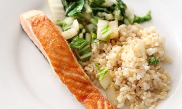 Seared Salmon and Greens