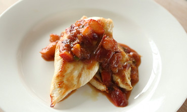 Chicken with Plum Chutney