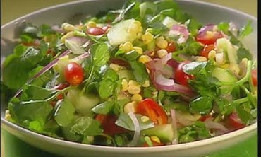 Corn and Watercress Salad