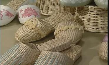 Decorative Straw Slippers