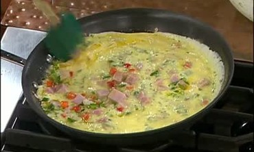 Ham Frittata with Veggies