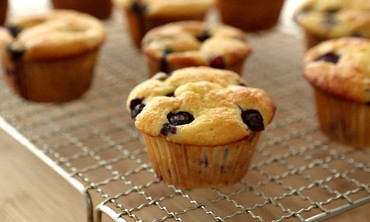 Lighter Blueberry Muffins