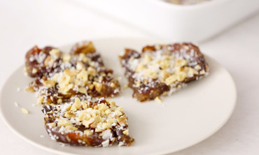 No-Bake Coconut Date Bars