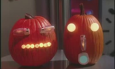 Robot Pumpkin Decorations