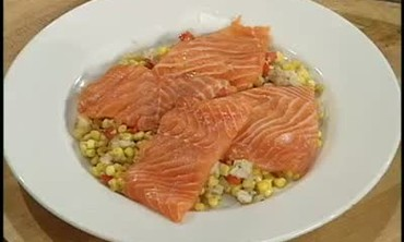 Salmon and Maque Shu Corn