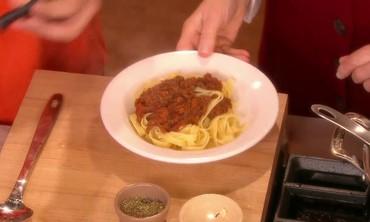 Vegetable Ragu over Pasta