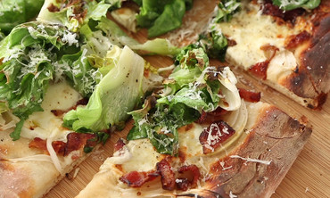 Bacon and Escarole Pizza