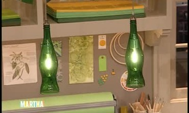 Colored Glass Bottle Lamps