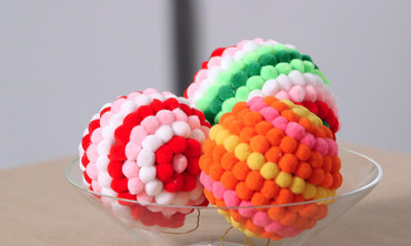 Colorful Pom-Pom Ornaments