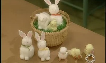 Cotton Ball Easter Animals