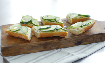 Cucumber-Feta Toast Recipe