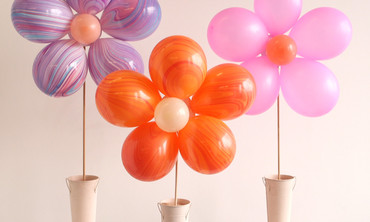 DIY Floral Balloon Bouquet