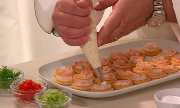 Emeril's Shrimp on a Ritz