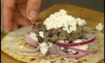 Lamb Burgers on Pita Bread