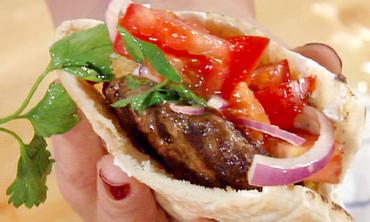 Lamb Burgers with Tzatziki Sauce and Parsley Salad