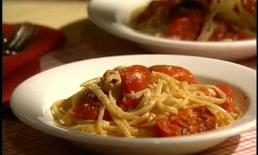 Pasta and Grilled Tomatoes