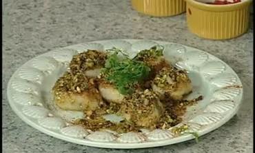Pistachio Crusted Scallops