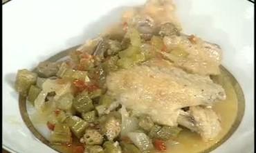 Stewed Okra Creole Chicken