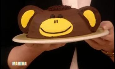 Banana Monkey Birthday Cake