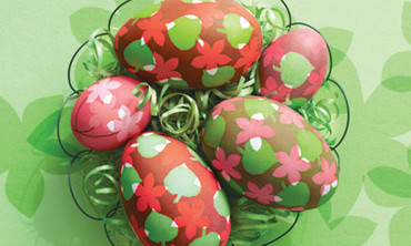 Leaf and Flower Easter Eggs