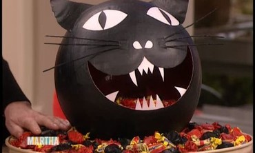 Papier-Mache Cat Candy Bowl