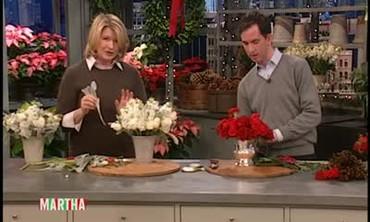 Rose Christmas Centerpieces