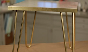 Brass-Leg Side Table Project