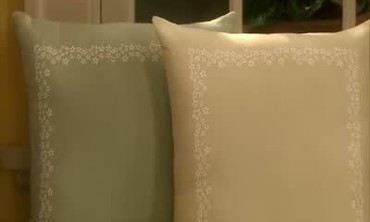 Decorative Stenciled Pillows