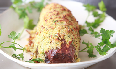 Leek-Crusted Beef Tenderloin