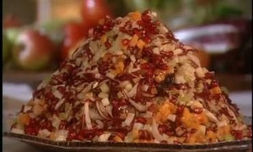 Making a  Winter Jewel Salad