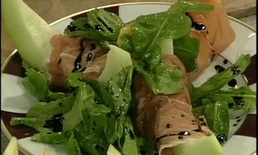 Melons Wrapped in Proscuitto