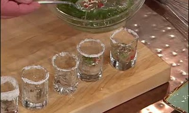 Oyster Shooters with Tequila