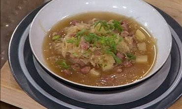 Sauerkraut Soup with Sausage