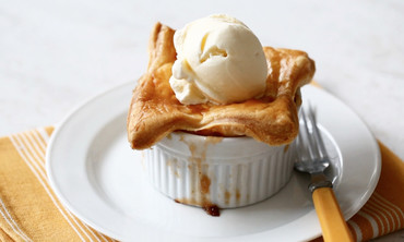 Apple-Bourbon Potpies Dessert