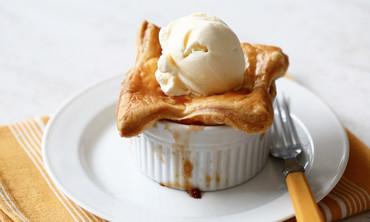 Apple-Bourbon Potpies Dessert