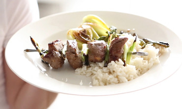 Beef Skewers with Scallions