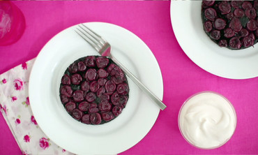 Black Forest Upside-Down Cake