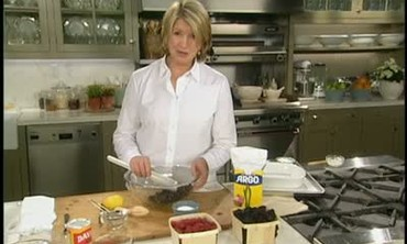 Cooking a Mixed Berry Cobbler