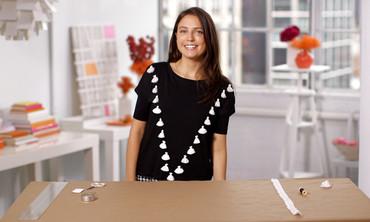 DIY Embellished Tassel Shirts